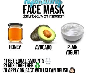 avocado, diy, and face image