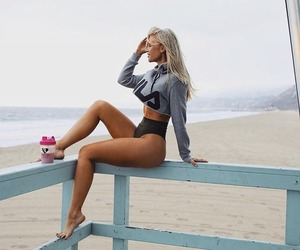beach, exercise, and fitness image