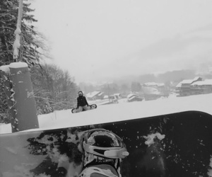 sister, snowboard, and my love image