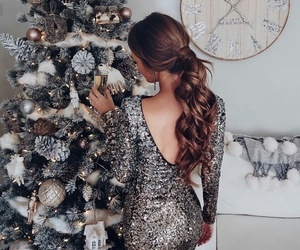 christmas, girl, and fashion image