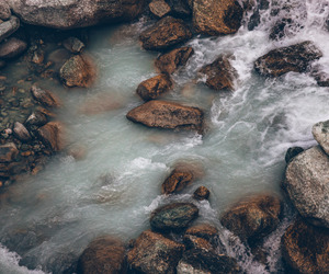nature, river, and boho image