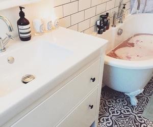 bathroom, home, and living image