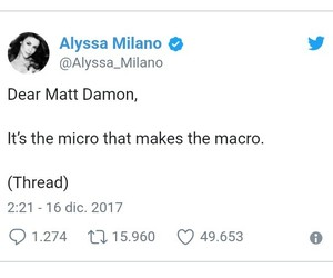Alyssa Milano, matt damon, and acoso sexual image