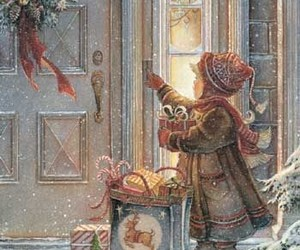 art, background, and merry christmas image