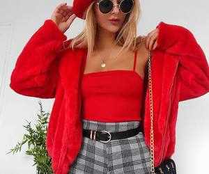 fashion, red, and girl image