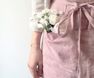 pink, white, and fashion image