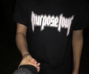 purpose tour, justin bieber, and black image