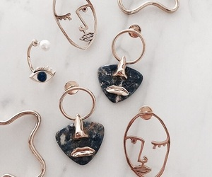 accessories, gold, and earrings image