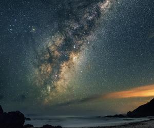 beach, galaxy, and milky way image
