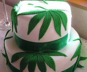 cake, weed, and marijuana image