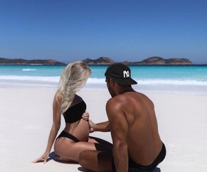 couple, beach, and goals image