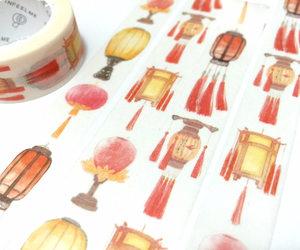 chinese art, japanese art, and chinese lantern image