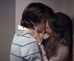 couple, kiss, and stranger things image
