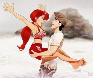 ariel, the notebook, and disney image