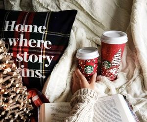 christmas, holiday, and starbucks image