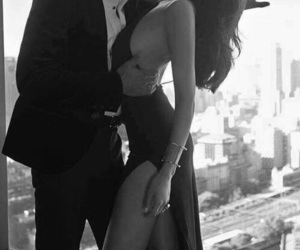 black and white, lady, and couple couples image