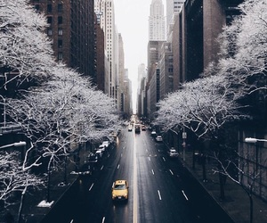 winter, city, and snow image