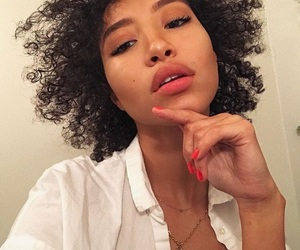 curl, curly, and girl image