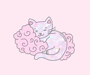 blanket, cloud, and illustration image