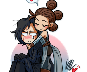 star wars, reylo, and rey image