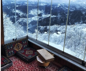 snow, mountains, and view image