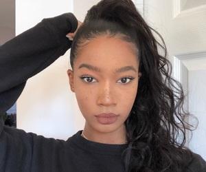 aesthetic, baddie, and melanin image