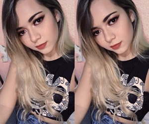black, blonde, and double image