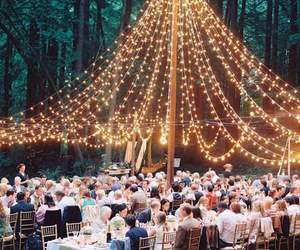 wedding, ideas, and lights image