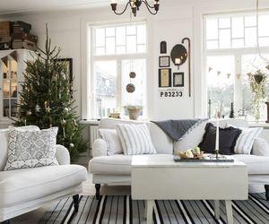interior decor, scandinavian style, and scandinavian christmas image