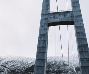 bridge and snow image