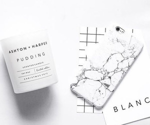 white, iphone, and marble image