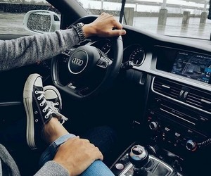 couple, audi, and car image