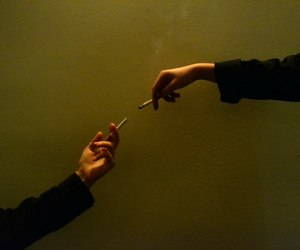 cigarette, aesthetic, and hands image