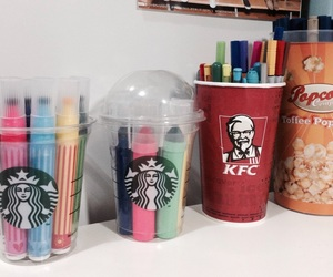 color, desk, and KFC image