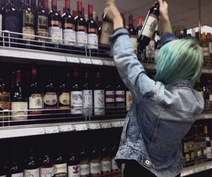 girl, grunge, and alcohol image