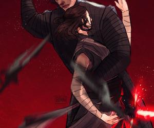 star wars, kylo ren, and reylo image