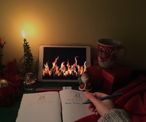 atmosphere, fireplace, and relax image