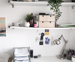 desk, work, and note image