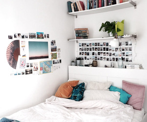 bed, plants, and decor image