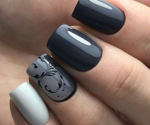 nails, blonde, and brunette image