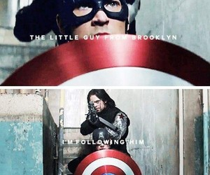 bucky, Marvel, and steve rogers image
