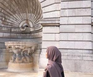 hijab, muslima, and hijâbi image