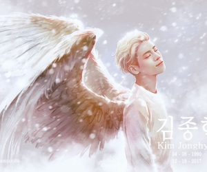 SHINee, Jonghyun, and angel image