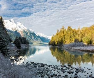 alaska, mountains, and travel image