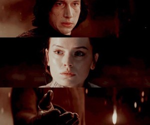 kylo ren, reylo, and rey image