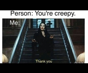 creepy, funny, and goth image