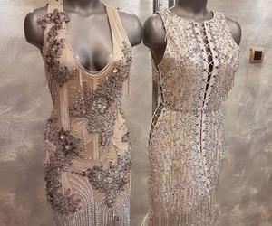 glitter, dress, and long dress image