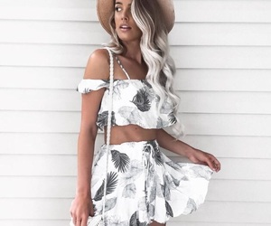 clothes, dress, and hair image