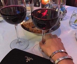 wine, drink, and Prada image