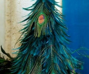 christmas, crafts, and feathers image